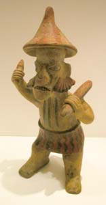 Nayarit Terracotta Sculpture of a Standing Warrior
