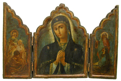 Triptych Featuring the Virgin