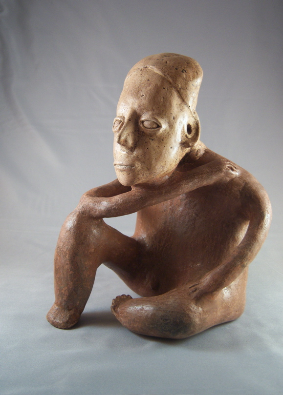 Ameca-Ezatlán Style Jalisco Seated Male Figure