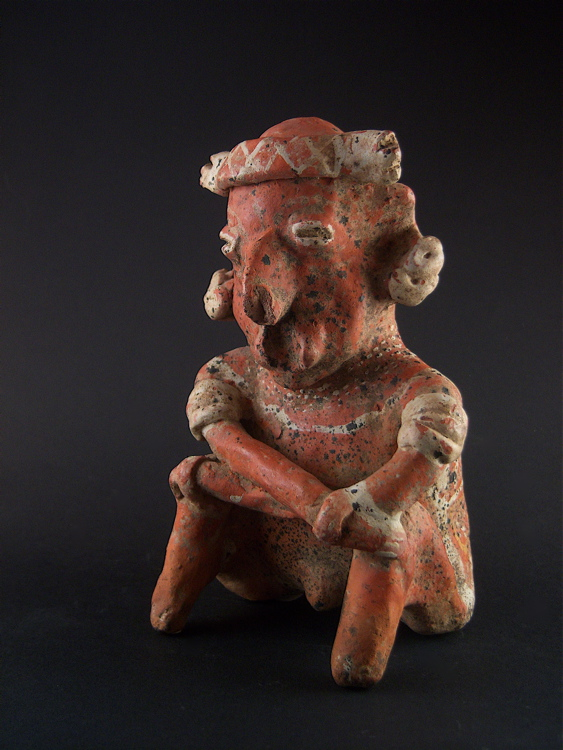 Ixtlán del Rio Style Nayarit Sculpture of a Seated Man