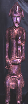 Senufo Wooden Maternity Sculpture