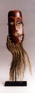 Lega Ivory Mask with Raffia Beard