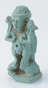 Late Dynastic Faience Amulet of Ptah-Sokar