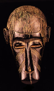 Bambara Wooden Anthropomorphic Simian Mask