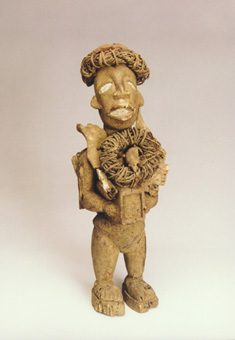 Yombe Wooden Nkisi Sculpture