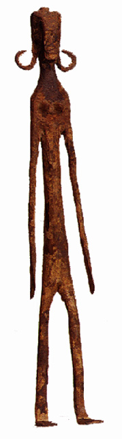 Bambara Sculpture of a Standing Woman