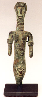 African Art / Dogon / Dogon Bronze Sculpture of a Woman