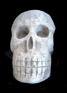 Stone Sculpture of a Skull