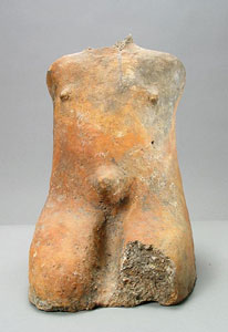Tenenkun Terracotta Sculpture of a Seated Captive