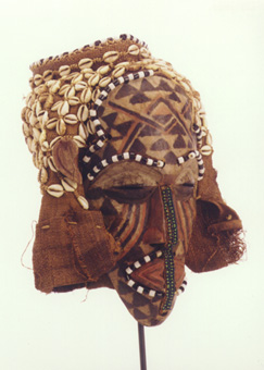 Kuba Painted Wooden Ngaady a Mwaash Mask