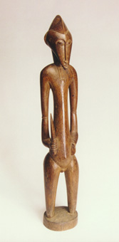 Senufo Wooden Sculpture of a Warrior