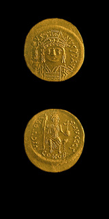 Byzantine Gold Coin of Emperor Justin II