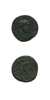 Bronze Follis of Maximinus II Daia Struck While Caesar