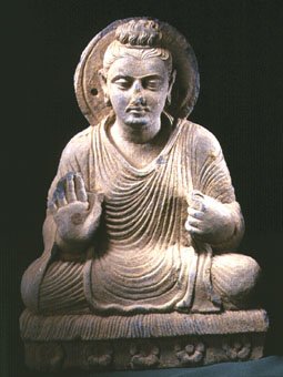 Gandhara Schist Sculpture of the Seated Buddha