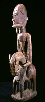 Dogon Wooden Equestrian Sculpture