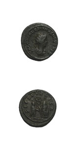 Bronze Antoninianus Saloninus Struck While Caesar