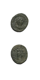 Silvered Bronze Antoninianus of Emperor Valerian I