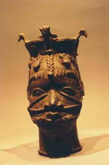 Benin Brass Head Depicting an Osun
