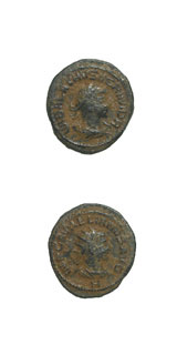 Bronze Antoninianus of Vabalatus, the Duke of Palmyra