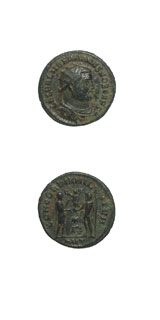 Bronze Antoninianus of Galerius Struck While Caesar