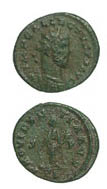 Bronze Antoninianus of the British Secessionist Emperor Allectus