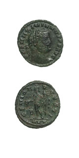 Bronze Follis of Emperor Galerius