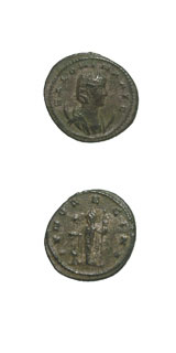 Silvered Antoninianus of Empress Salonina
