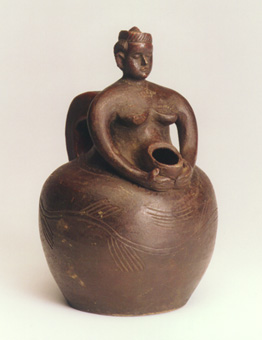 Tabwa Terracotta Female Effigy Jug