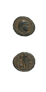 Bronze Coin of Emperor Constantine I the Great