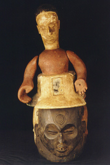 Igbo Wooden Polychrome Headdress Mask