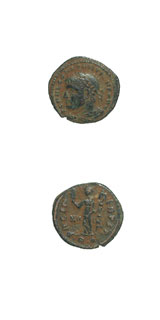 Bronze Half-Follis of Emperor Constantine I the Great