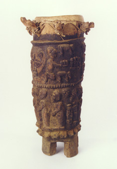 Yoruba Ceremonial Wooden Drum