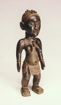 Baga Wooden Sculpture of a Standing Woman
