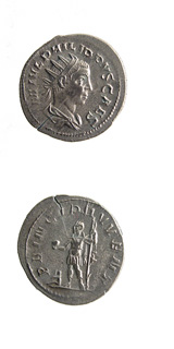 Silver Antoninianus of Philip II Struck While Caesar