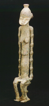 Djennenke Bronze Sculpture of a Seated Female