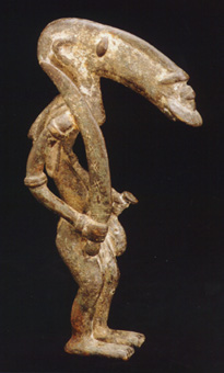 Djenne Bronze Anthropomorphic Sculpture