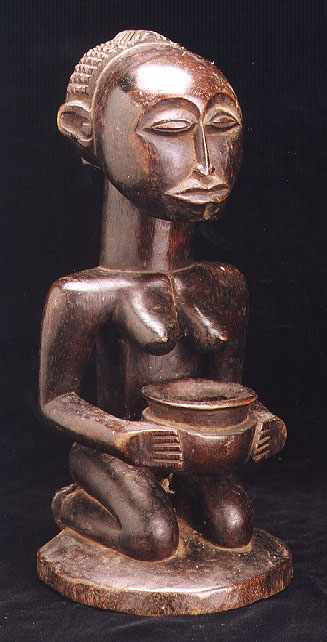 Shankadi Sculpture of a Woman Holding a Bowl