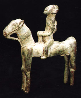 Dogon Bronze Equestrian Sculpture