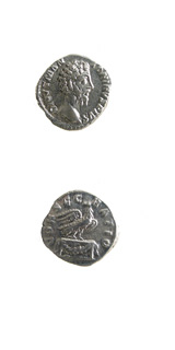 Silver Denarius of Emperor Marcus Aurelius Issued Posthumously by Commodus