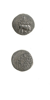 Illyrian Silver Drachm of Dyrrachium Issued Under the Moneyer Xenon