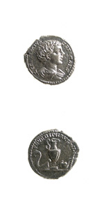 Silver Denarius of Geta Struck While Caesar