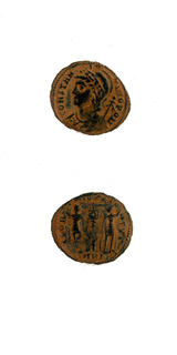 Bronze Coin Commemorating Constantinople Issued Anonymously During the Reign of Constantine I