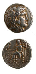 Macedonian Silver Tetradrachm of Alexander th Great