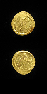 Byzantine Gold Solidus of Emperor Justinian I