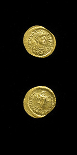 Byzantine Gold Semissis of Emperor Maurice Tiberius