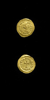 Byzantine Gold Tremissis of Emperor Maurice Tiberius