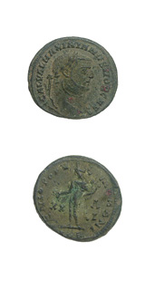 Bronze Follis of Galerius Struck While Caesar