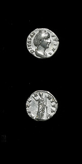 Silver Denarius of Empress Faustina Senior Issues Posthumously