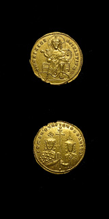 Byzantine Gold Solidus of Romanus I and Christopher
