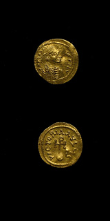 Byzantine Gold Semissis of Emperor Heraclius